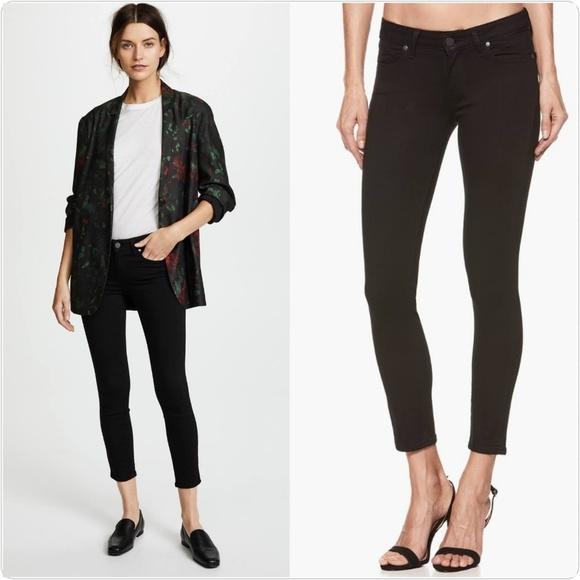 PAIGE Denim - Paige Black Verdugo Crop Jeans
